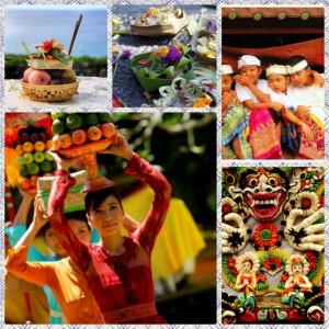 Galungun festivities in Ubud, Bali