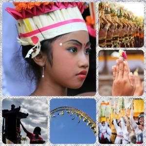 Galungun ceremonies in Ubud, Bali