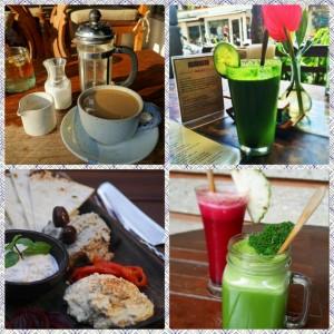 Drink selections at Kafe Ubud, Bali